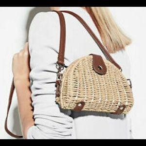 NWT White House Black Market straw handbag